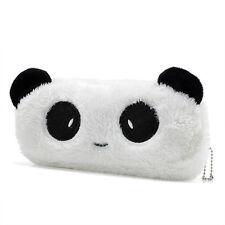 Cute Panda Plush Pencil Case Pen Pocket Makeup Cosmetic Pouch Bag Zipper NEW