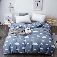 3D Cute Cloud ZHUA3283 Bed Pillowcases Quilt Duvet Cover Set Queen King Zoe