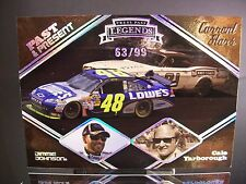 Insert Jimmie Johnson Cale Yarborough Press Pass PAST & PRESENT 2009 Card #PP3