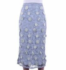 Below Knee Cotton Floral Skirts for Women