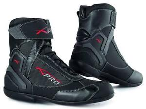 Wasserdichte Leder Schuhe Motorrad Stiefel Sport Touring Roller A-Pro Unisex