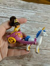 Dora the Explorer DIECAST DORA FIGURE CHARIOT UNICORN HORSE 2007 cake topper