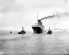 """Picture of the RMS Titanic leaving Belfast 8""""x 10"""" Photo 17"""