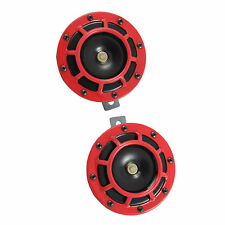 For Holden Car Speakers Horns Dual Tone Red Grille 139DB Mount Super Loud 2 Pcs