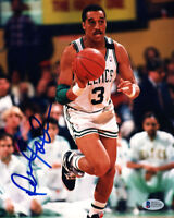 DENNIS JOHNSON SIGNED AUTOGRAPHED 8x10 PHOTO BOSTON CELTICS RARE BECKETT BAS
