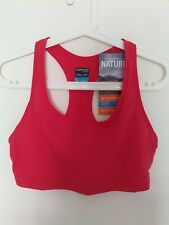 Icebreaker Women's Red Sports Bra Meld Zone Cool-Lite Wool Blend Sz L NWT