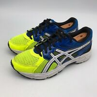 Asics Gel Contend 3 Running Athletic Shoes Blue Yellow C566Q Men's US Size 5.5