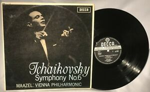 LP MAAZEL/VPO Tchaikovsky Symphony no. 6 (UK IMPORT, DECCA SXL 6164) NM/EX