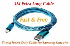 3M Samsung Galaxy S8 S9 Plus, Note 8 9 Fast Usb Data Lead Charging Cable