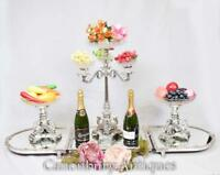 Silver Plate Epergne Centerpiece Display Elkington Glass Dish