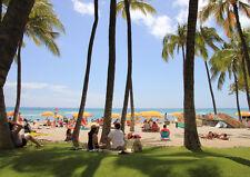 HAWAII WAIKIKI BEACH NEW A4 POSTER GLOSS PRINT LAMINATED