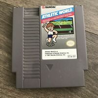 Athletic World, Family Fun Fitness Series 1 (5-Screw) NES Nintendo Game Tested