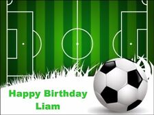 Football Pitch Personalised A4 Size Edible  Cake Topper icing