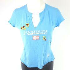 Napapijri Damen Sommer T Shirt Dena Gr m 38 Baumwolle Print Bestickt NP 69 Neu