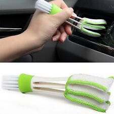 Car Vent Air-Condition Blind Cleaner Keyboard Duster 2 Heads Cleaning Brush UP