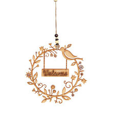 New Year Door Welcome Decoration wood Hanging Pendant Christmas Ornament Decor