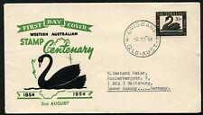 Australia 1954 Wa Stamp Centenary - Fdc