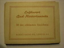 uraltes s/w DDR Leporello  BAD KLOSTERLAUSITZ  von 1954
