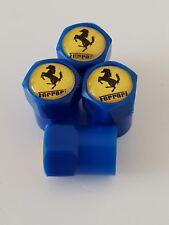 Ferrari Valve Capuchons Anti-Poussière Plastique Non stick toutes les voitures motos 7 couleurs bleu 360