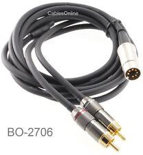 6ft 7-Pin DIN Plug to 2-RCA Plug Premium Grade Audio Cable, BO-2706