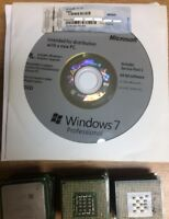 Windows 7 Professional 64 Bit Full Version SP1 Pro DVD License Product Key + HW