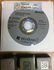Windows 7 Professional 64-Bit Pro SP1 DVD + COA Product Key + Hardware