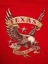 Texas TX Freedom Forever Lone Start State Texit Bald Eagle T Shirt L