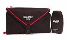 Drakkar Noir by Guy Laroche Set 2 Pieces 3.4oz Edt Spray +  Deluxe Toiletry Bag