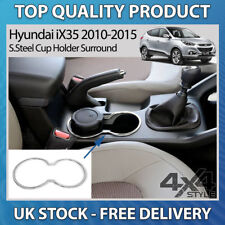 HYUNDAI IX35 2010-2015 POLISHED CHROME S.STEEL CUP DRINK HOLDER SURROUND TRIM