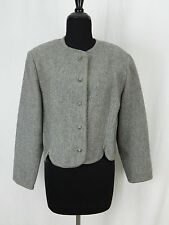 Walkloden Austria Vintage Gray Wool Shrug Sweater Jacket Coat Women's Small