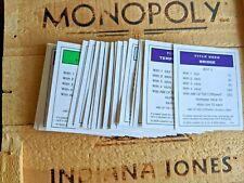 Indiana Jones Monopoly Replacement Property Deed