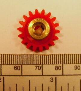 Gear - brass hub 4mm bore 18 teeth - with grub screw
