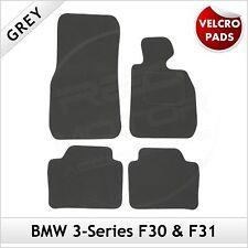 BMW 3-Series F30 F31 2012 onwards Velcro Pads Tailored Carpet Car Mats GREY
