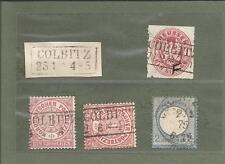 Preussen V. / COLBITZ je Ra2 auf Blanko-Briefst., Pr. 16, 2 x NDP 16 + K1-Abl. i