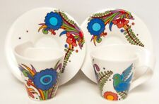 Villeroy & Boch NewWave Acapulco Tea Cups and Saucers 2 cups 2 Saucers Germany
