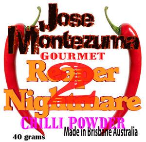 Gourmet Reaper Nightmare 2 Chilli Powder with Carolina Reaper 40 gram  chillies