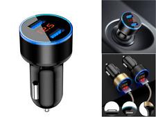 CARICABATTERIA PER AUTO DOPPIA USB 2 PORTE LCD PRESA ACCENDISIGARI 12-24V 3.1A