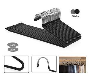 Der Kleiderb/ügelriese 50 x Rockspanner Metall verchromt mit schwarzer Anti-rutsch Beschichtung 26-52 cm