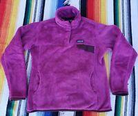 VTG Patagonia Snap T Synchilla Pullover Purple Fleece Women's M USA Material