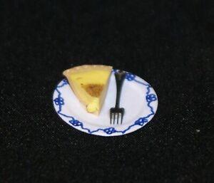 Slice of Custard Tart 1:12 Scale Dollhouse Miniatures Dessert Kitchen Party