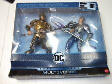 2 Lot - DC COMICS MULTIVERSE MOVIE AQUAMAN  ORM GLADIATOR BATTLE ACTION FIGURE