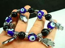 Evil Eye Bead Feng Shui Protection Good Luck Bracelet Jewelry Turkish Hand #ds