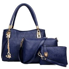 3pcs Women Leather Handbag Shoulder Cross Body Bag Messenger Lady Satchel Tote