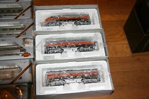 PCM/BLI W.P. CALIFORNIA ZEPHYR 3 LOCO / 9 PASS CAR TRAIN HO SCALE FROM ESTATE JL