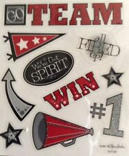 Cheerleader Cheer Team Spirit Sports Scrapbook Stickers
