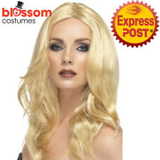W482 Blonde Superstar Costume Celebrity Pop Star Red Wig Long Wavy Supermodel