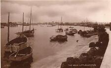 River Arun Littlehampton Harbour RP old pc used 1938 Carbon Bromide