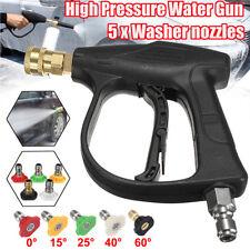 3000PSI High Pressure Washer Spray Gun Lance Handle + 5 Quick Connect Nozzle Tip