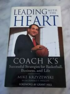Leading with the Heart SIGNED BY COACH MIKE KRZYZEWSKI ,HB,1st/1st Free Shipping