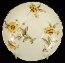 Crown Staffordshire Yellow/Orange Flowers Fine Bone China Orphan Saucer